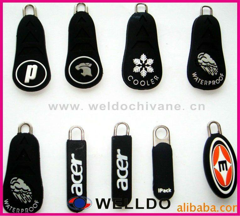 Rubber Custom Zipper Pulls Logo Zipper Pulls Zipper Pulls