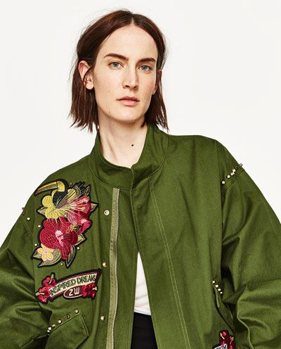 1a94ef412c Image 2 of PARKA WITH EMBROIDERED BACK DETAIL. from Zara | Wish List ...