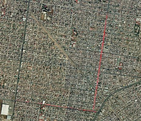 Mexico City Street Markets (red) as captured by Google Maps ...