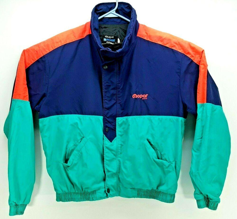 fc4ad748 Vintage Retro Mopar Chrysler Motors Collection Men's Jacket Multi ...