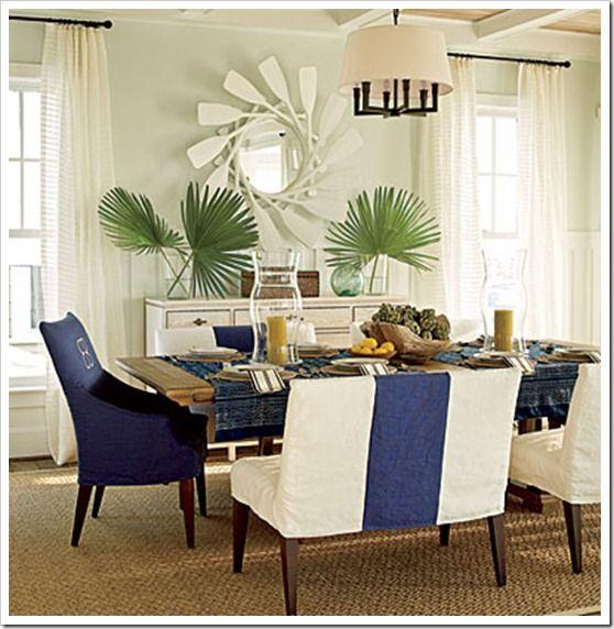 East Beach Idea House Tour Beach dining room Room and Coastal