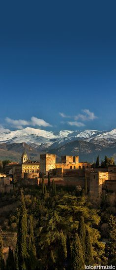 The Alhambra and Sierra Nevada, Granada, Spain