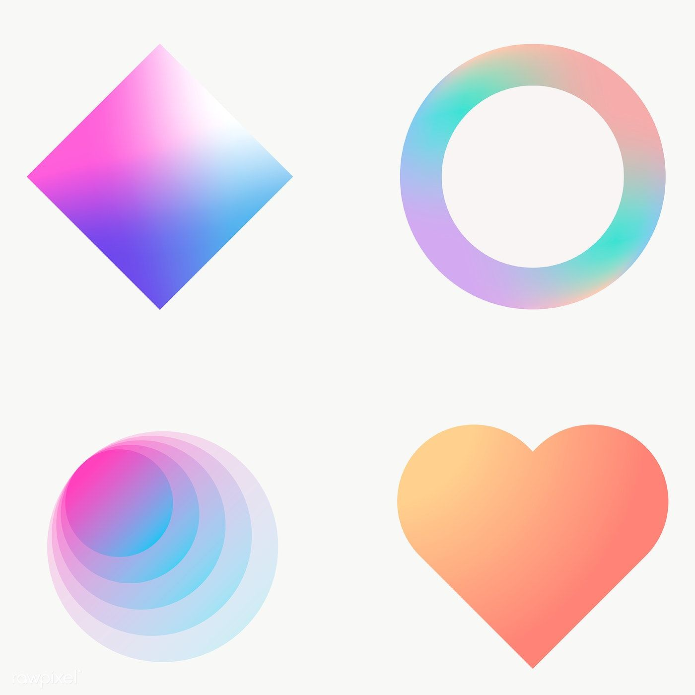 Colorful Gradient Elements Collection Transparent Png Premium Image By Rawpixel Com Nunny Image Fun Png Gradient