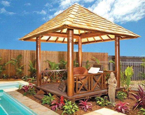 Garden Pavilion Bali Huts Balinese Garden Backyard Garden Design