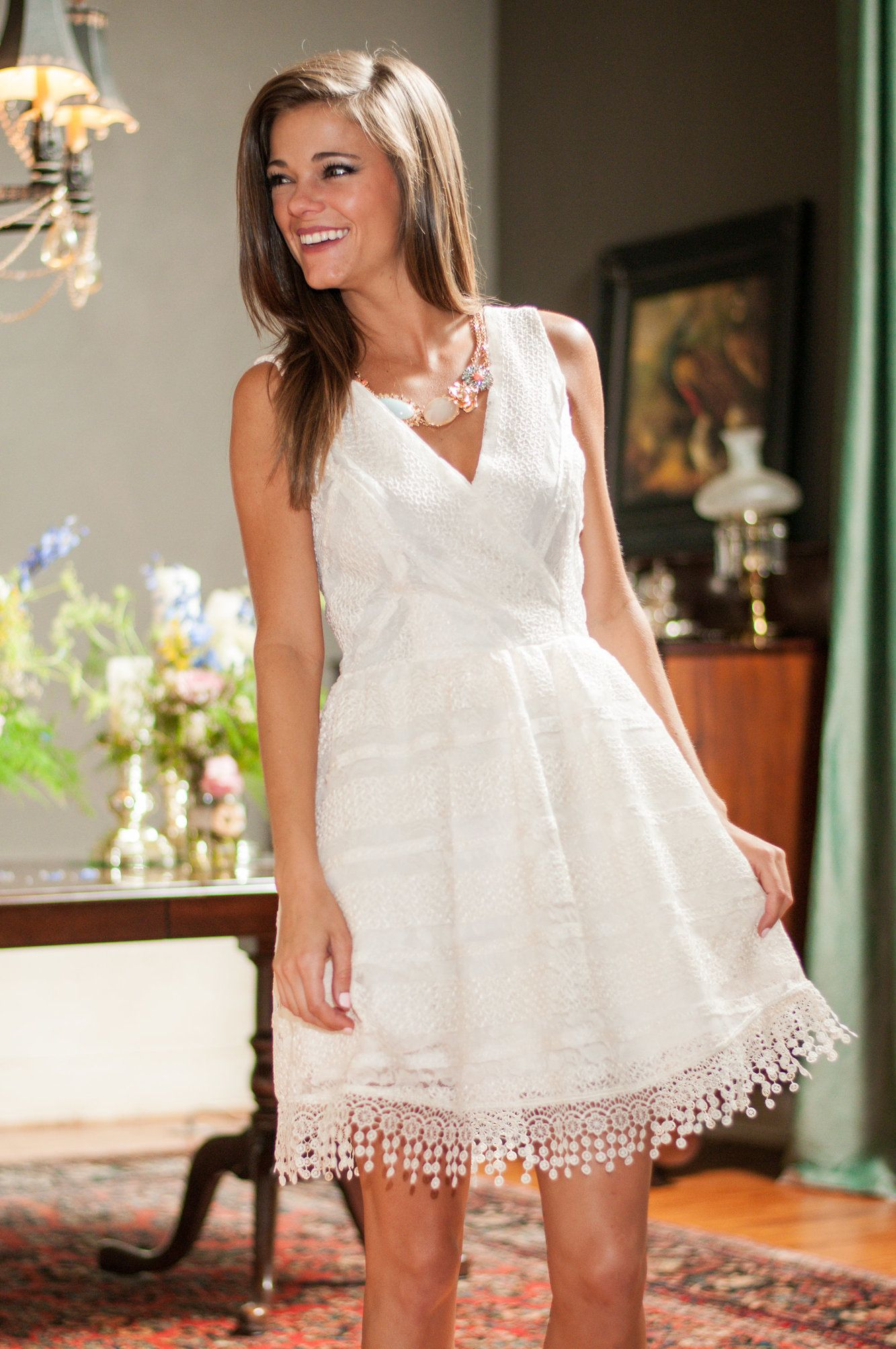 Effortlessly Ethereal Dress, Cream   Mint julep boutique, Rehearsal ...
