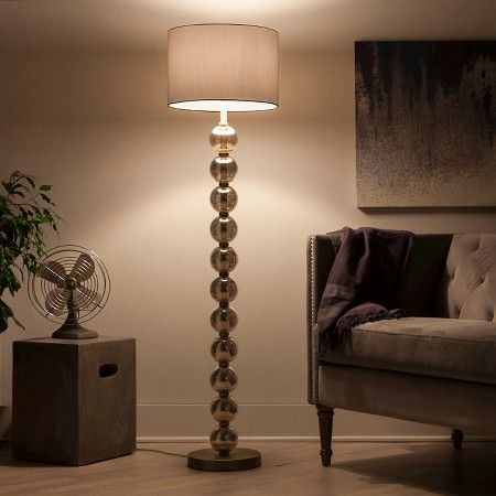 Stacked ball floor lamp mercury glass includes cfl bulb stacked ball floor lamp mercury glass includes cfl bulb threshold mercury glassantique brass mozeypictures Images
