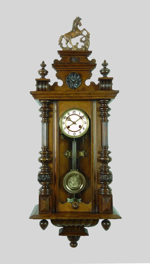 beautiful antique german wall clock quarter hour strike on wall clocks id=39485