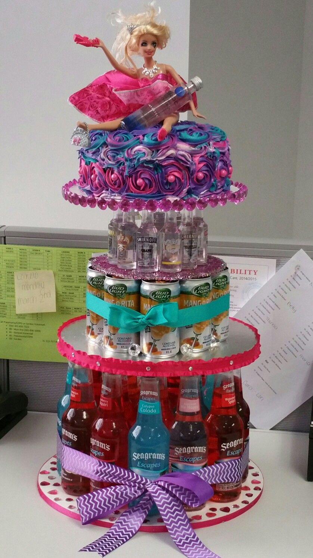 21st Drunken Barbie Birthday Cake Holidaysgiftsdiycrafts In