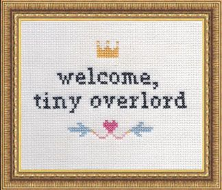 welcome tiny overlord.  baby gift