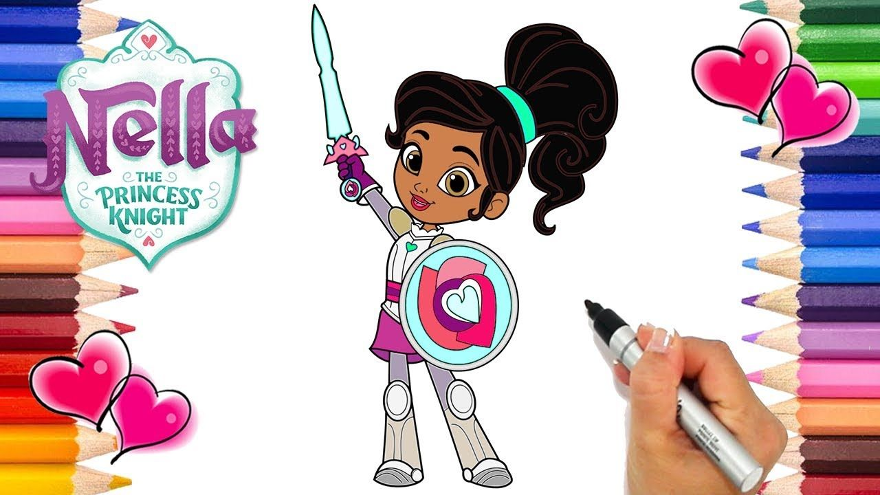 Nella The Princess Knight Coloring Page How To Draw Nella The Princess Coloring Pages Printable Coloring Pages Princess Drawings