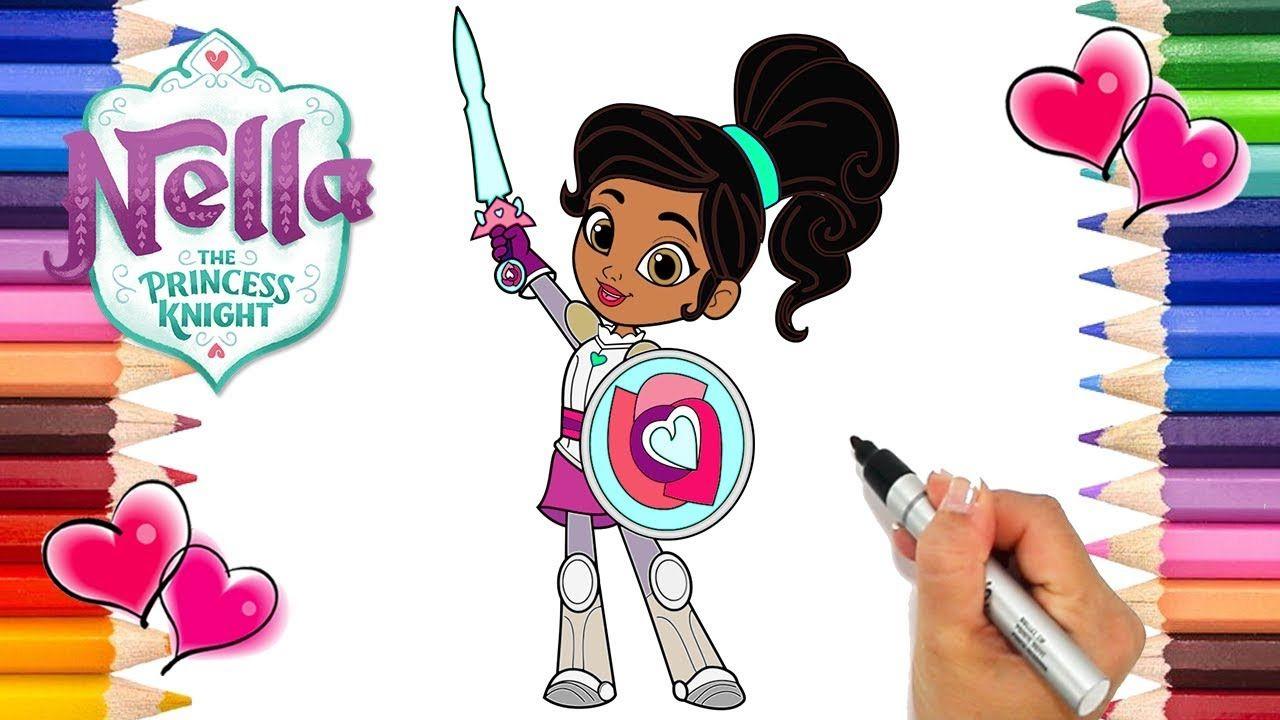 Nella The Princess Knight Coloring Page How To Draw Nella The