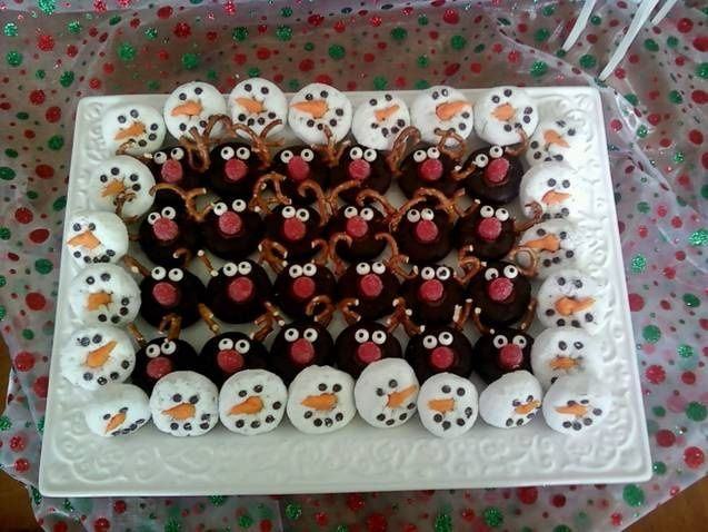 Snowman Christmas Party Snacks