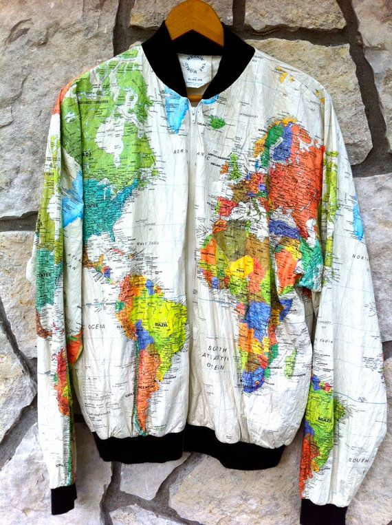 Geography world map jacket by greendragonvalley on etsy trippy geography world map jacket by greendragonvalley on etsy gumiabroncs Gallery
