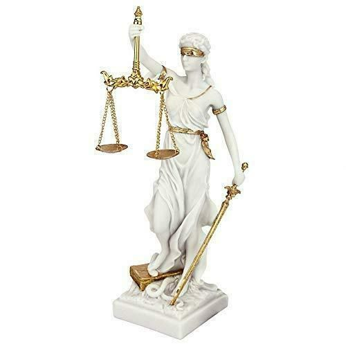 Design Toscano Themis Blind Lady Of Justice Statue Lawyer Gift White Small Designtoscano Justice Statue Bonded Marble Statue