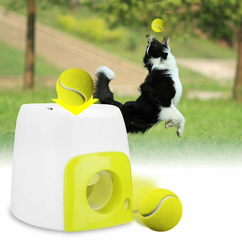 Pet Dog Toy Automatic Interactive Ball Launcher Rolls Out Machine Training Tool Doesnotapply Smart Dog Toys Dog Ball Outdoor Dog Toys