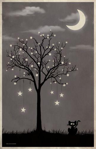 Pin By Georgie S Girl Since 58 On Love My Moon Moon Art Art Tree Art