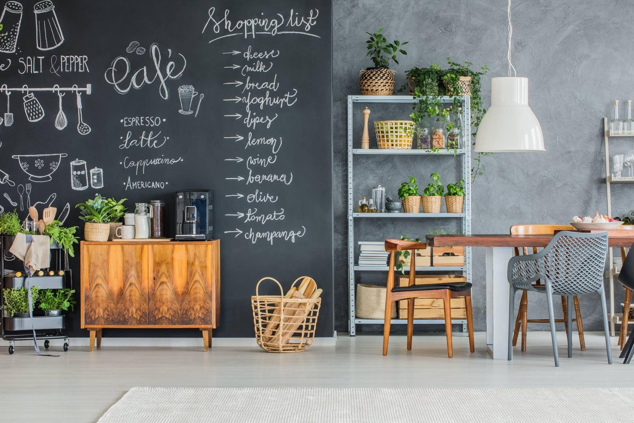 Turn Any Flat Surface Into A Blackboard With Our Amazing Peel Stick Blackboard Wallpaper W Chalkboard Wall Kitchen Chalkboard Wallpaper Kitchen Chalkboard