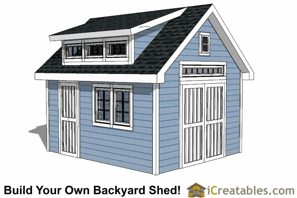 Dormer Shed Plans Designs To Build Your Own Shed With A Dormer 12x20 Shed Plans Shed Design Shed Plans