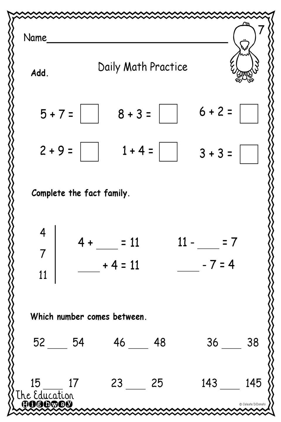 Pirates Morning Math For First Graders With Three Concepts On Each Page Use For Morning Math Work Homewo Math For First Graders Daily Math Practice Math Work [ 1440 x 960 Pixel ]