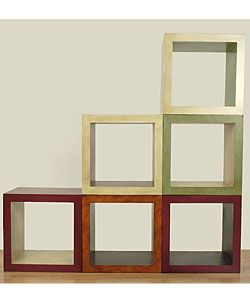 Hand Painted Wooden Stacking Cube   Overstock.com Shopping   Great Deals On  Coffee