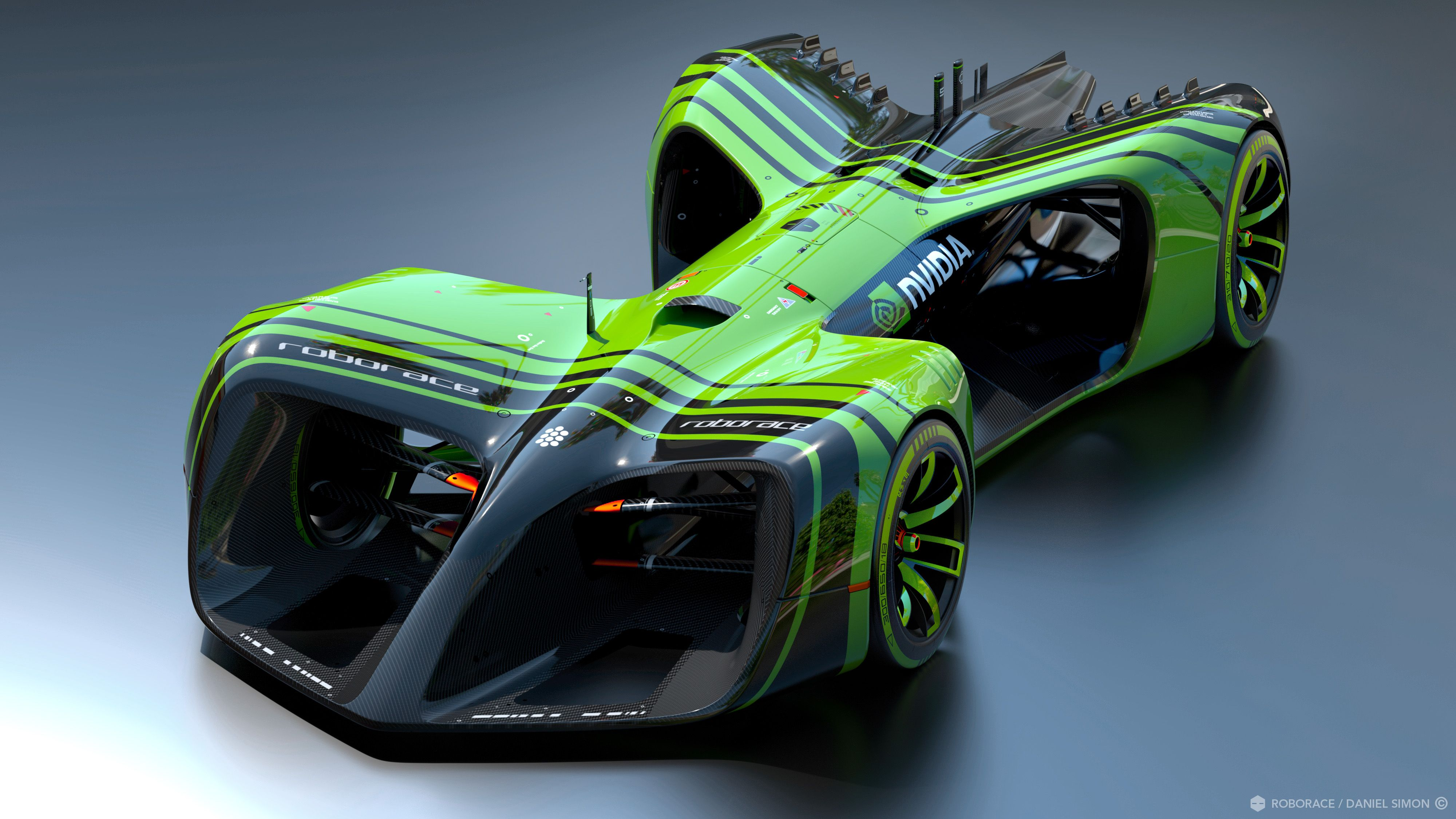 NVIDIA's Drive PX 2 will be the brains inside the cars competing in Roborace.