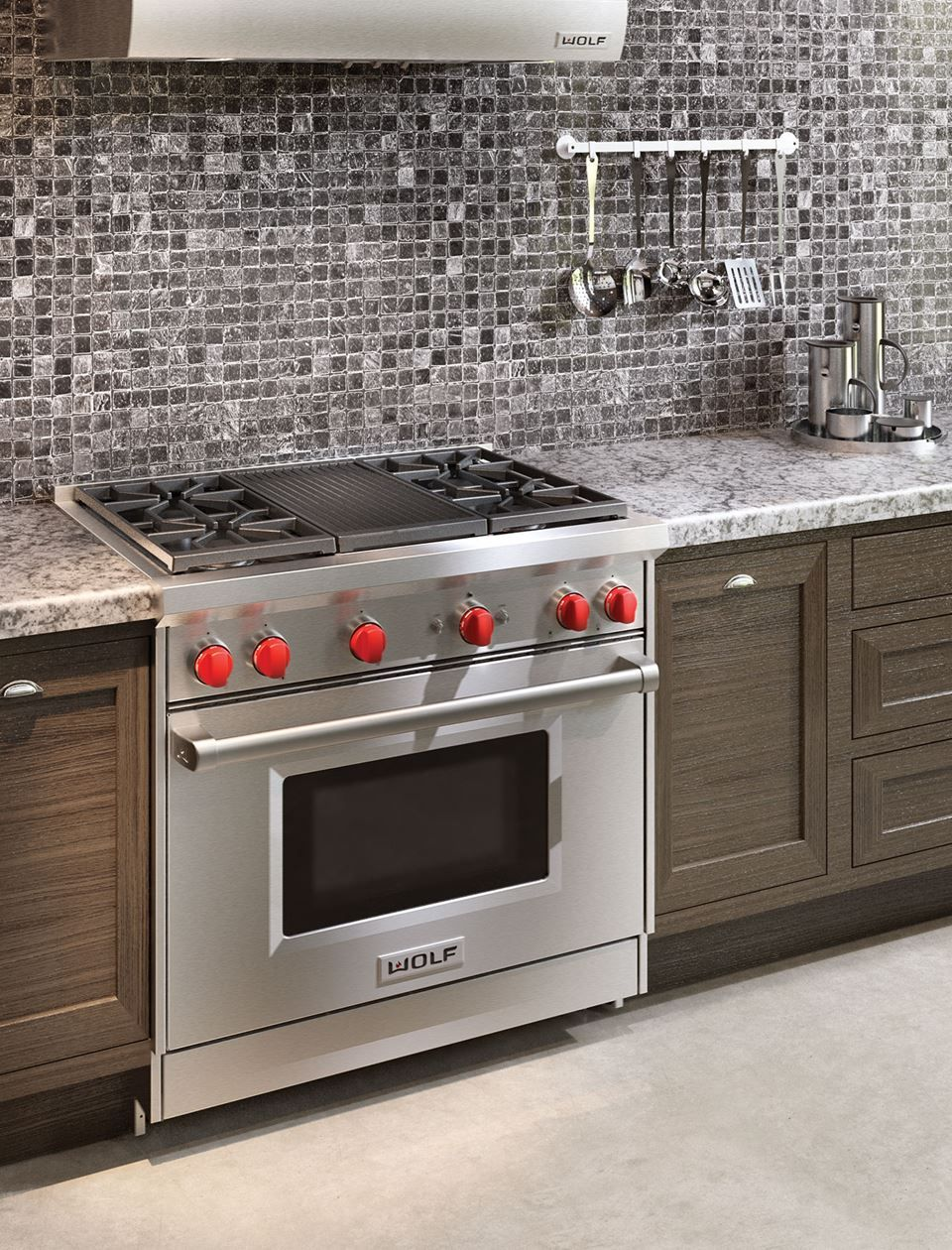 36 Gas Range 4 Burners And Infrared Charbroiler Dream