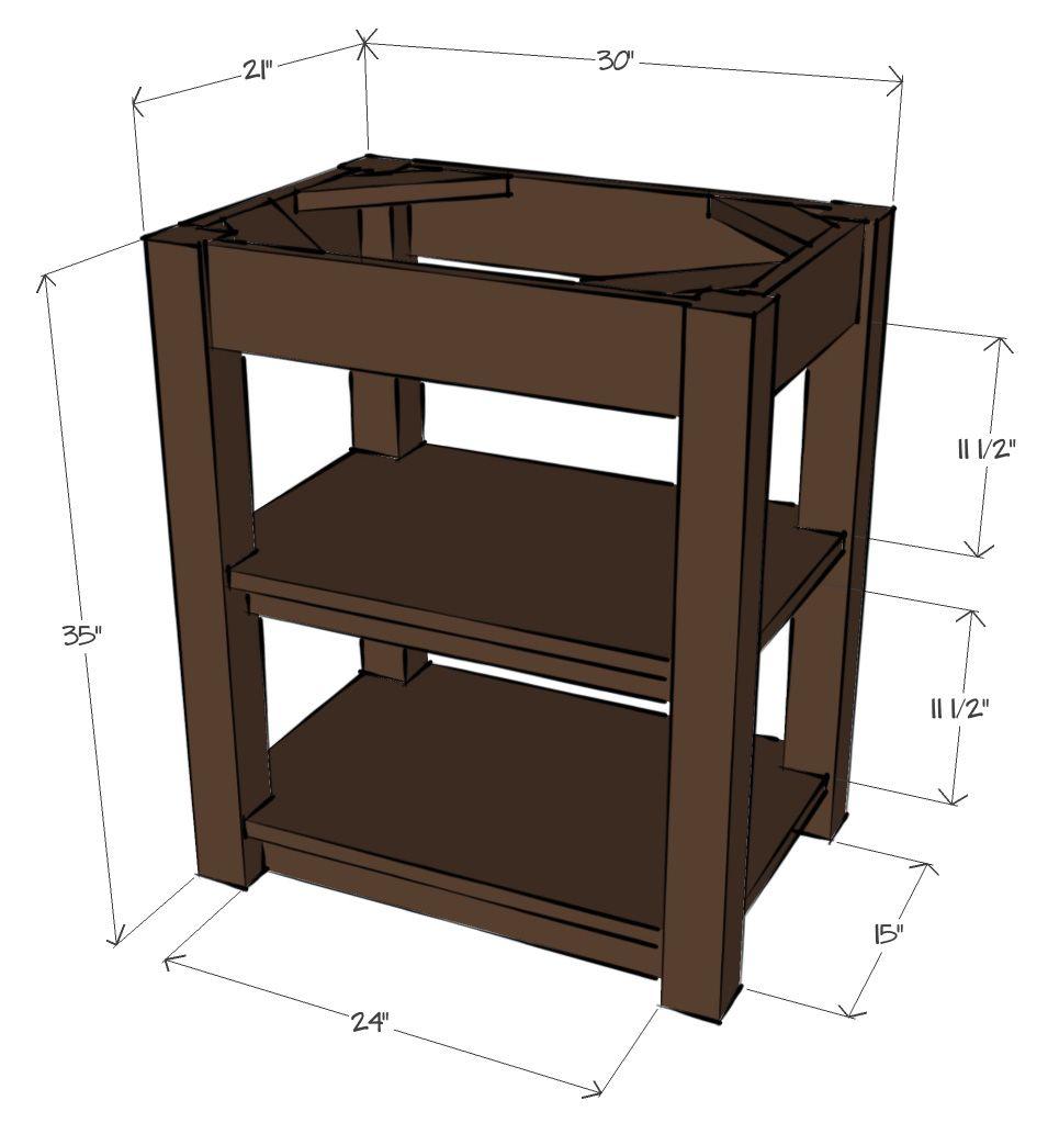 Sketchup 3d model of walnut bathroom vanity beezlee for Sketchup bathroom sink