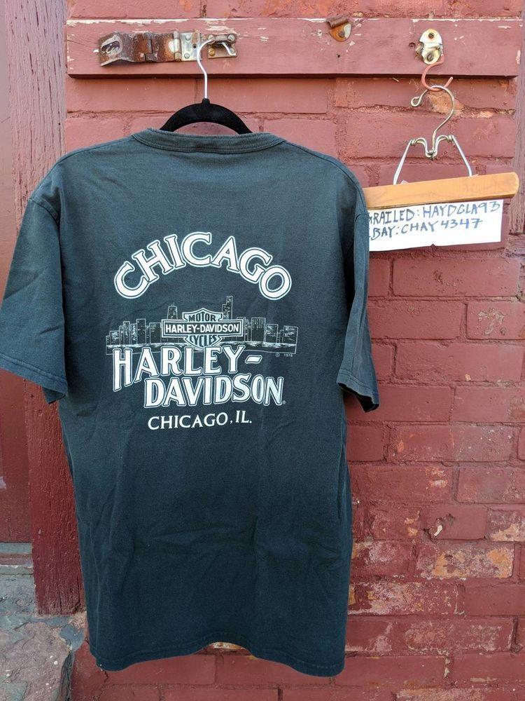 Rare Vintage 1978 Harley Davidson Chicago T Shirt Large Chi Town Hd Fashion Clothing Shoes Accessories Vintage Mensv Vintage Clothing Men Shirts Vintage