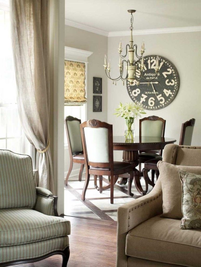 The Impact Of Using Large Clocks In Decorating Dining Room Clock