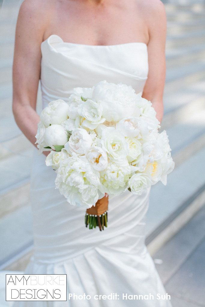 Beautiful White Bouquet Filled With Peonies Roses And Ranunculus