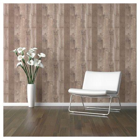Reclaimed Wood Peel Stick Wallpaper Brown Threshold Peel And Stick Wallpaper Reclaimed Wood Wallpaper Reclaimed Wood