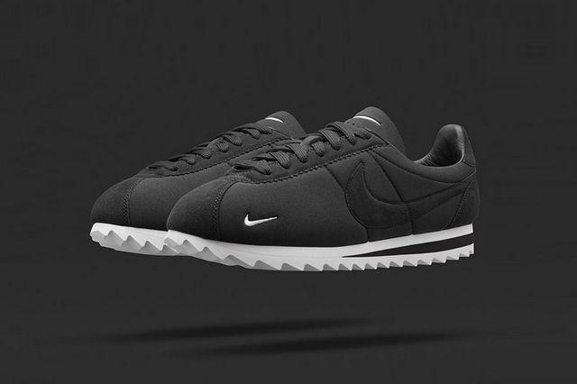 d21dba8c41d NIKE CORTEZ BIG TOOTH BY NIKELAB (BLACK WHITE) - Sneaker Freaker