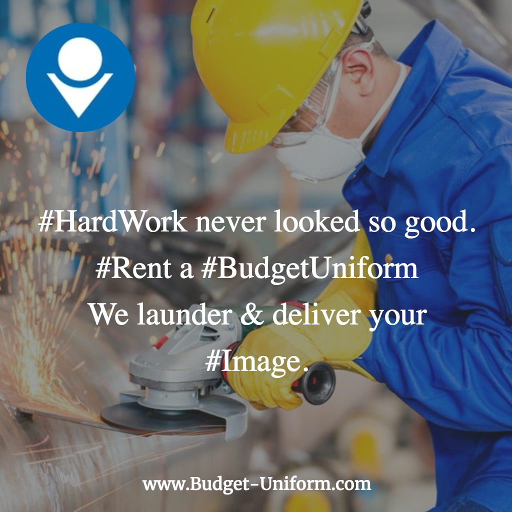 #HardWork never looked so good #Rent a #BudgetUniform We launder & deliver your #Image.