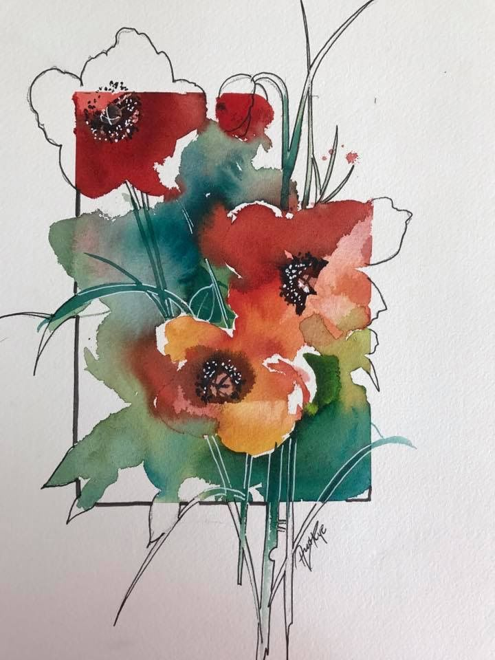 Love This Idea That Gives The Idea Of A Remarque Aquarelle