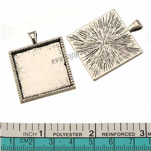 Zinc Alloy Square Pendants,Cabochon Setting,Plated,Cadmium And Lead Free,Various Color For Choice,Approx 36.5*29*2.7mm,Area:Approx 25.4*25.4mm,Hole:Approx 3.5mm,Sold By Bags,No 010202