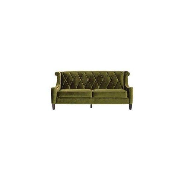 Barrister Loveseat In Green Velvet | Nebraska Furniture Mart ($890) ❤ Liked  On Polyvore