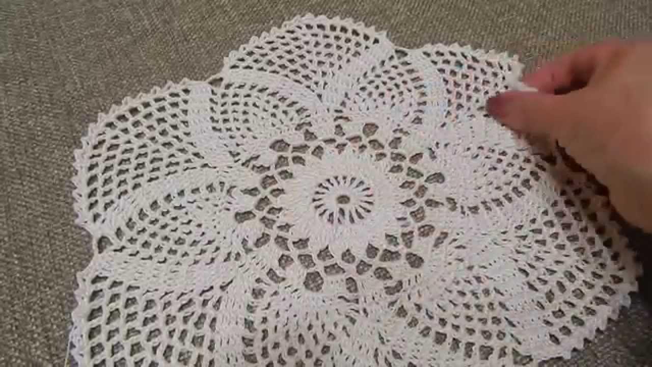 Mantel Circular con Tejido Exagonal de Piñas, Hexagonal pineapple ...