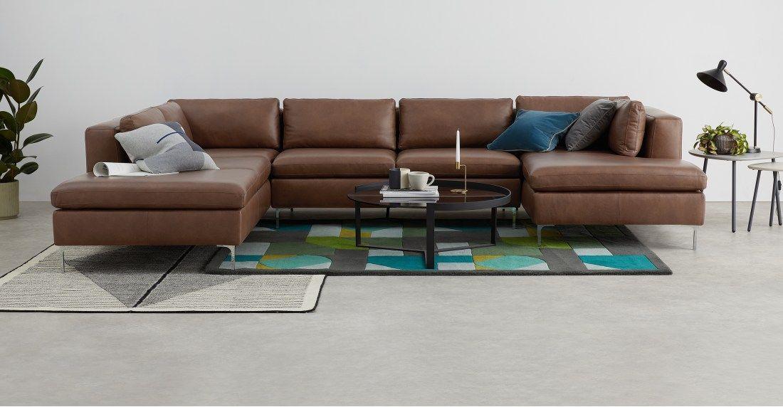 Made Walnut Brown Leather Corner Sofa In 2020 Corner Sofa Leather Corner Sofa Sofa