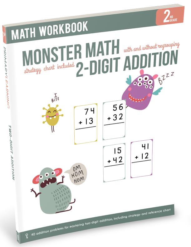 math worksheet : monster math  double digit addition grade 2nd grade subject  : 5th Grade Math Workbook Pdf