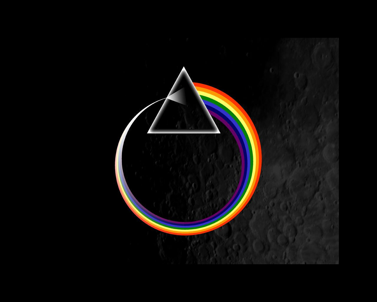 Dark Side Of The Moon Circle By Casti Wallpaper
