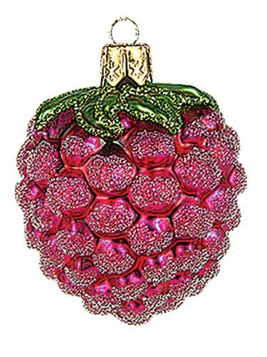 Mini Raspberry Polish Mouth Blown Glass Christmas Ornament Tree - polish christmas decorations