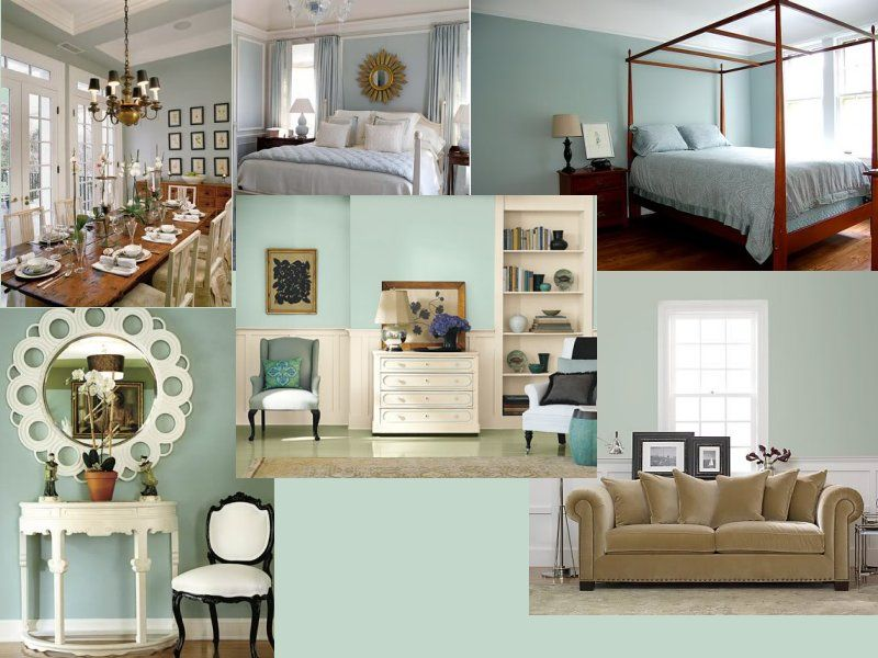 39 Living Room Ideas With Light Brown Sofas Green Blue: Light Aqua To Pale Green Paint With Tan, Cream Brown