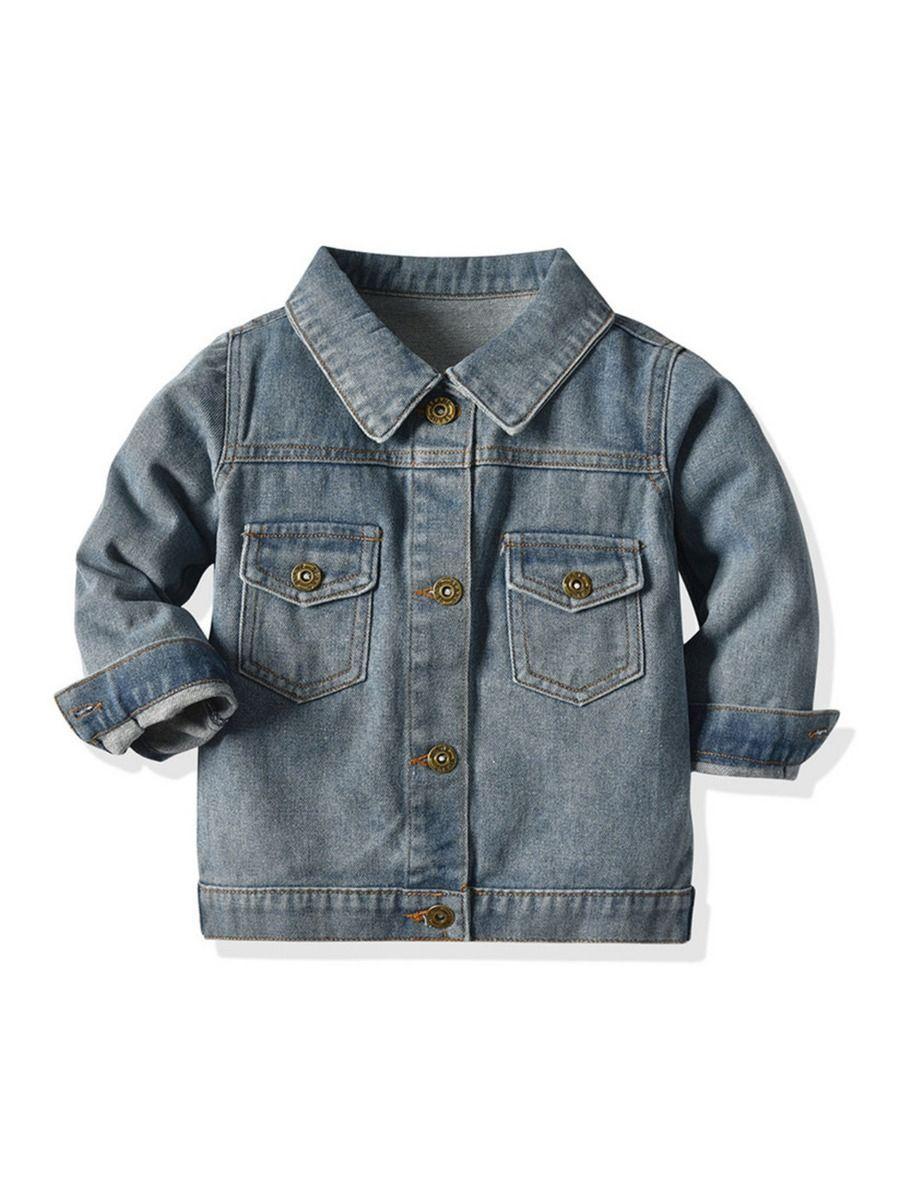 Infant Toddler Boy Turn Down Collar Denim Jacket Classic Denim Jacket Boys Denim Jacket Washed Jean Jacket [ 1200 x 900 Pixel ]
