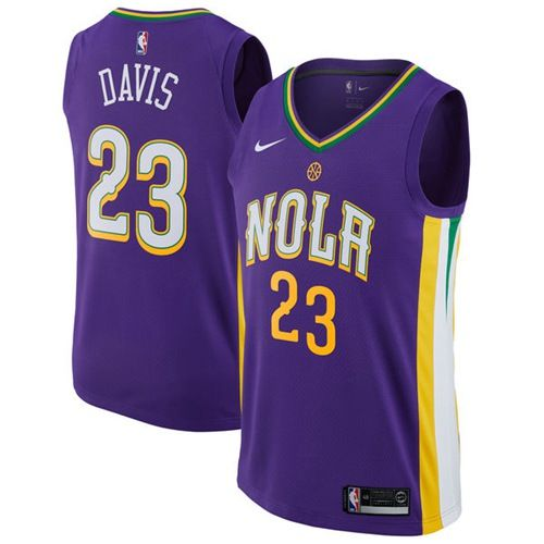 Nike Pelicans  23 Anthony Davis Purple NBA Swingman City Edition Jersey 2c21fa844