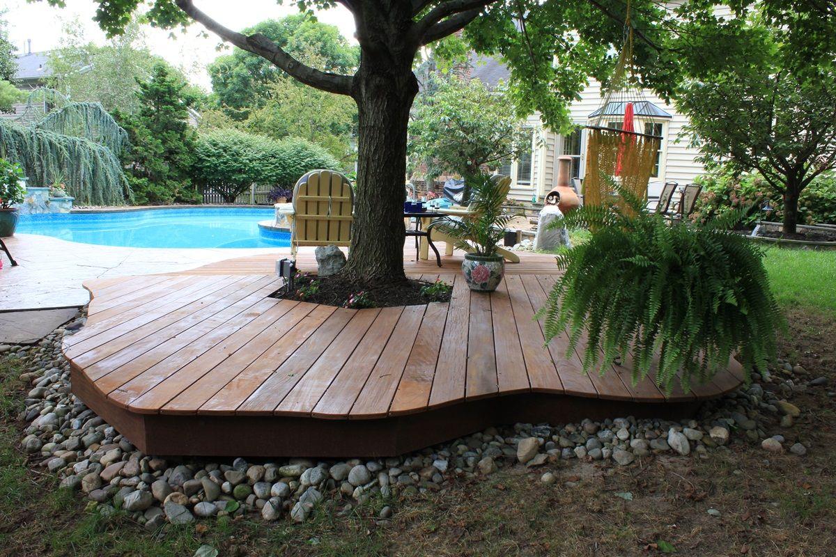 Determine ground level deck plans - Backyard deck design ...