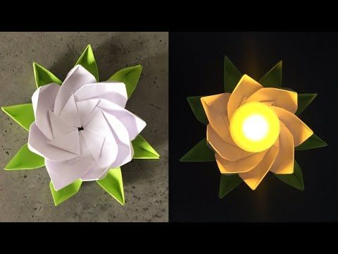 Photo of Origami Lotus | Diwali Decorations | Easy Diwali Diya Making With Paper | Paper Crafts – YouTube #diwalidecorations