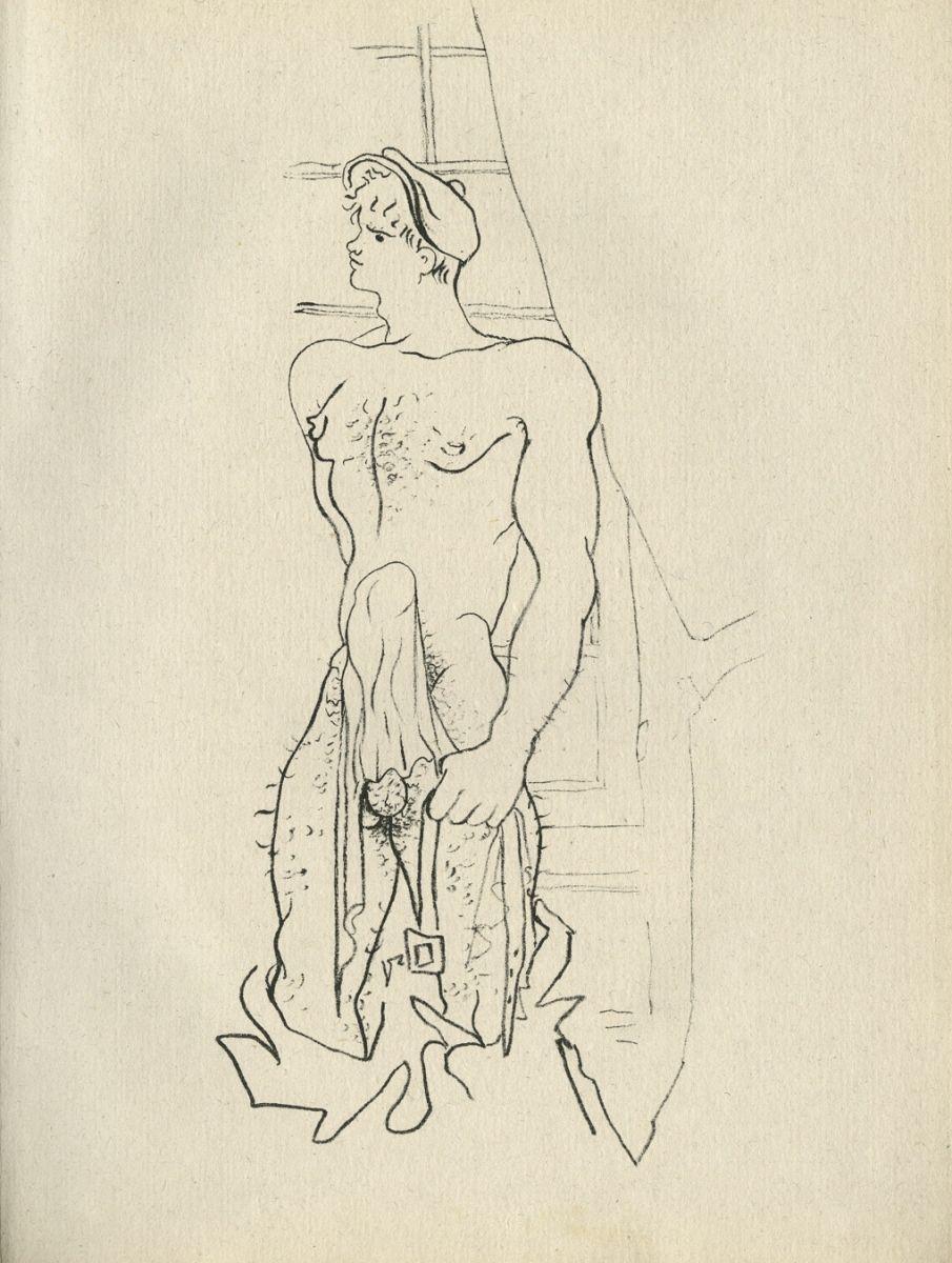 Jean Cocteau, illustration for Jean Genet\'s QUERELLE DE BREST ...