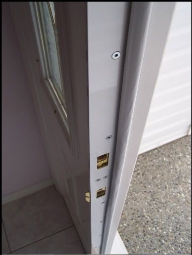 how to repair a kicked in door jamb door security door frame reinforcement fix a cracked