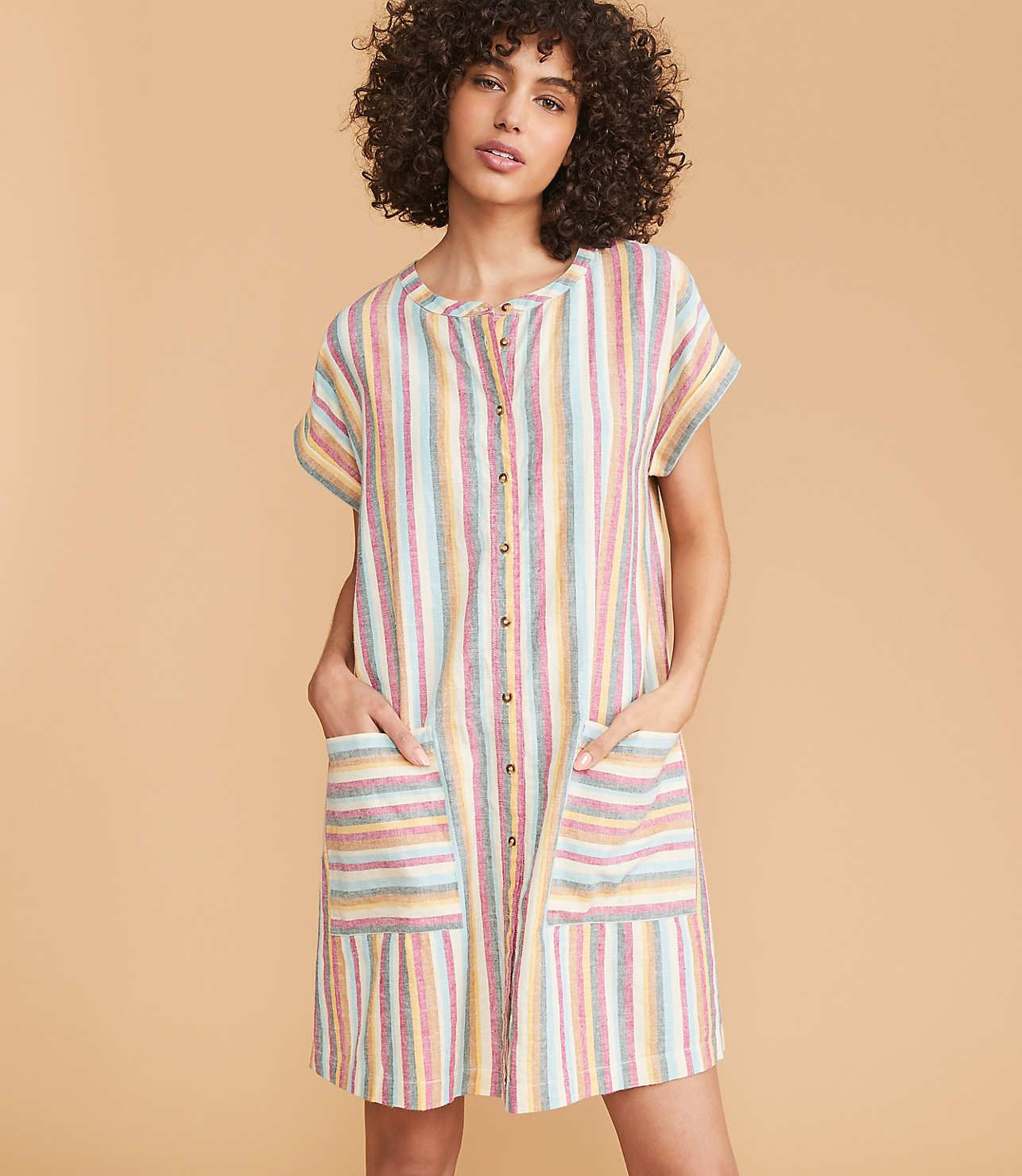 20 Comfy House Dresses Stylish Enough To Be Spotted In Even If You Won T Be Stylish Dresses House Dress Stripped Maxi Dresses [ 1480 x 1286 Pixel ]