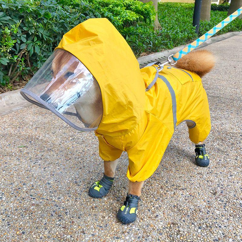 Teddy dog raincoat fourlegged waterproof pet supplies
